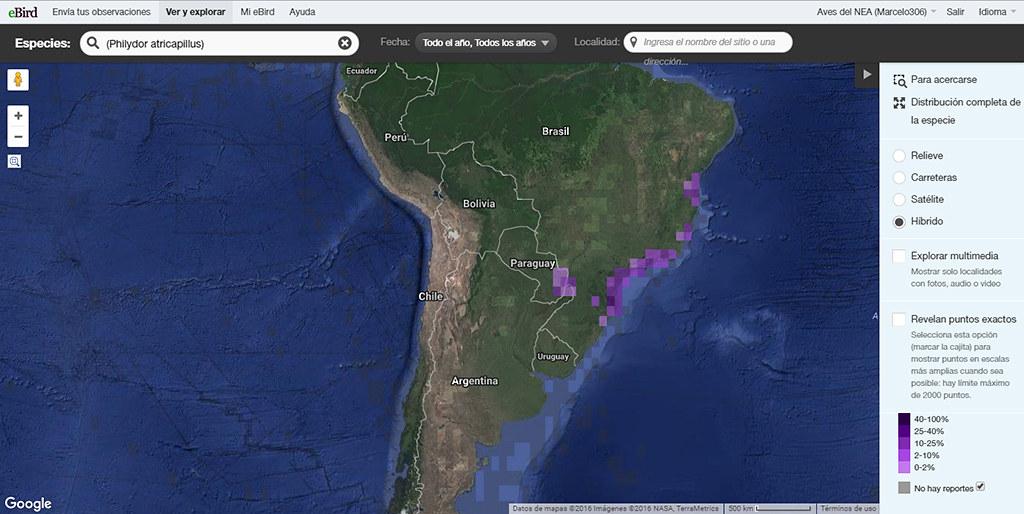 philydor_Atricapillus_Map