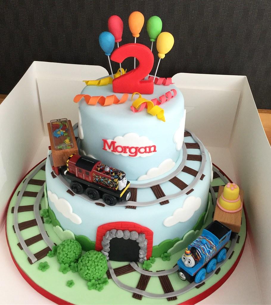 Thomas The Tank Engine Birthday Cake Melissa Rayner Flickr