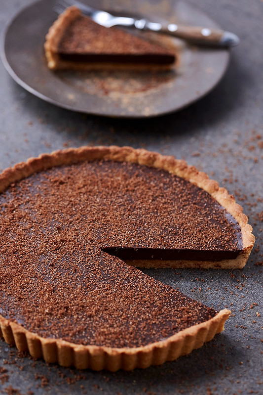 Grain-free Dark Chocolate Pumpkin Tart