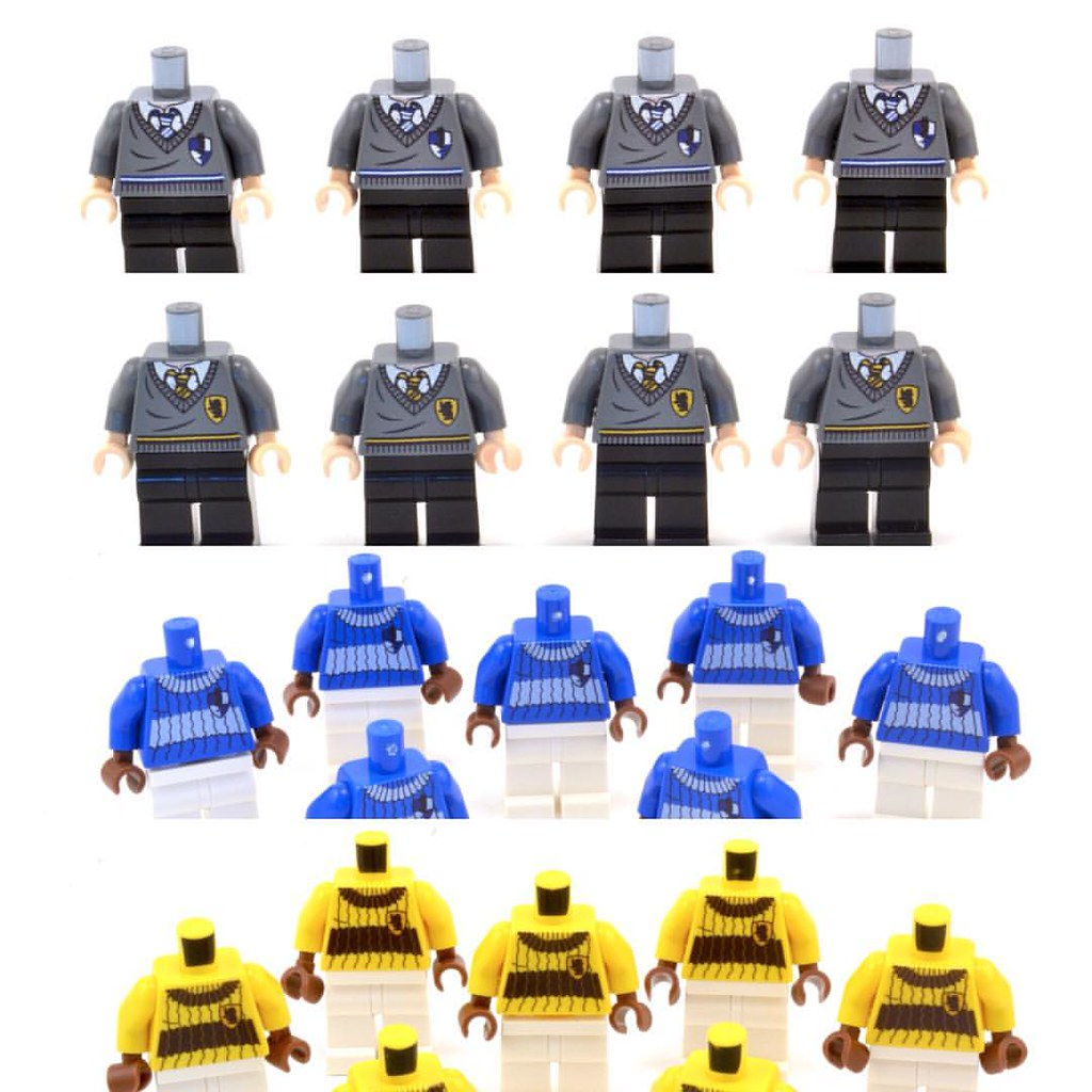 I Have Realized Torsos For The Houses Of Ravenclaw And Hufflepuff That LEGO Has Never
