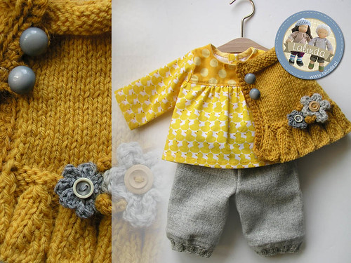 Autumn outfit for a doll / 16 inch high