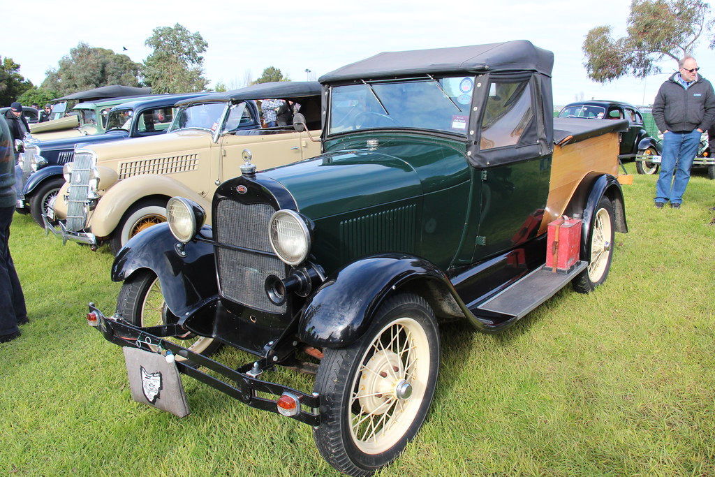 1929 Ford Model A Open Cab Pickup Rock Moss Green The