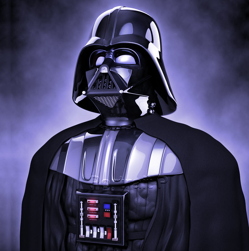 Star Wars Oil Painting Hand Painted Art Darth Vader Portrait On Canvas NOT A Giclee