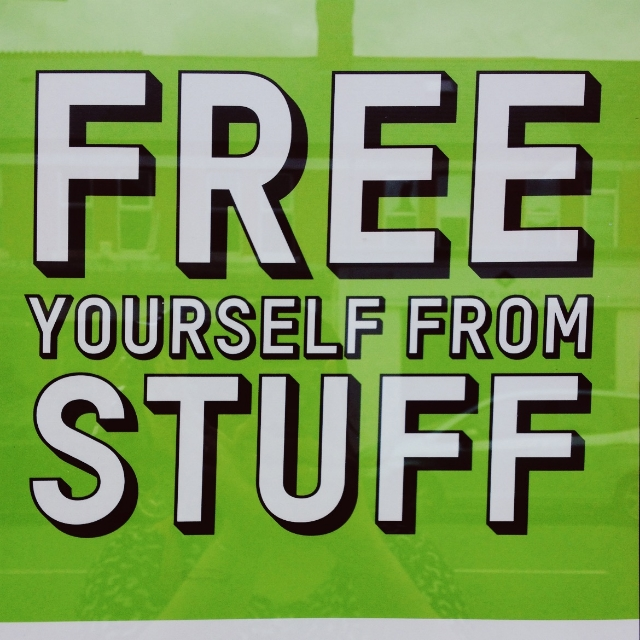 free yourself from stuff