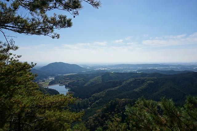 古賀志山から見る赤川ダム