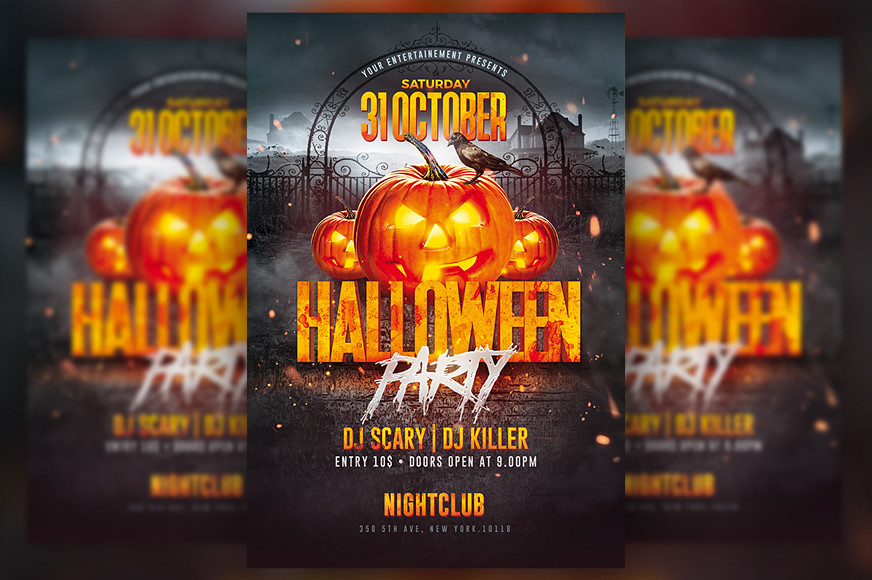 halloween party flyer by rome creation
