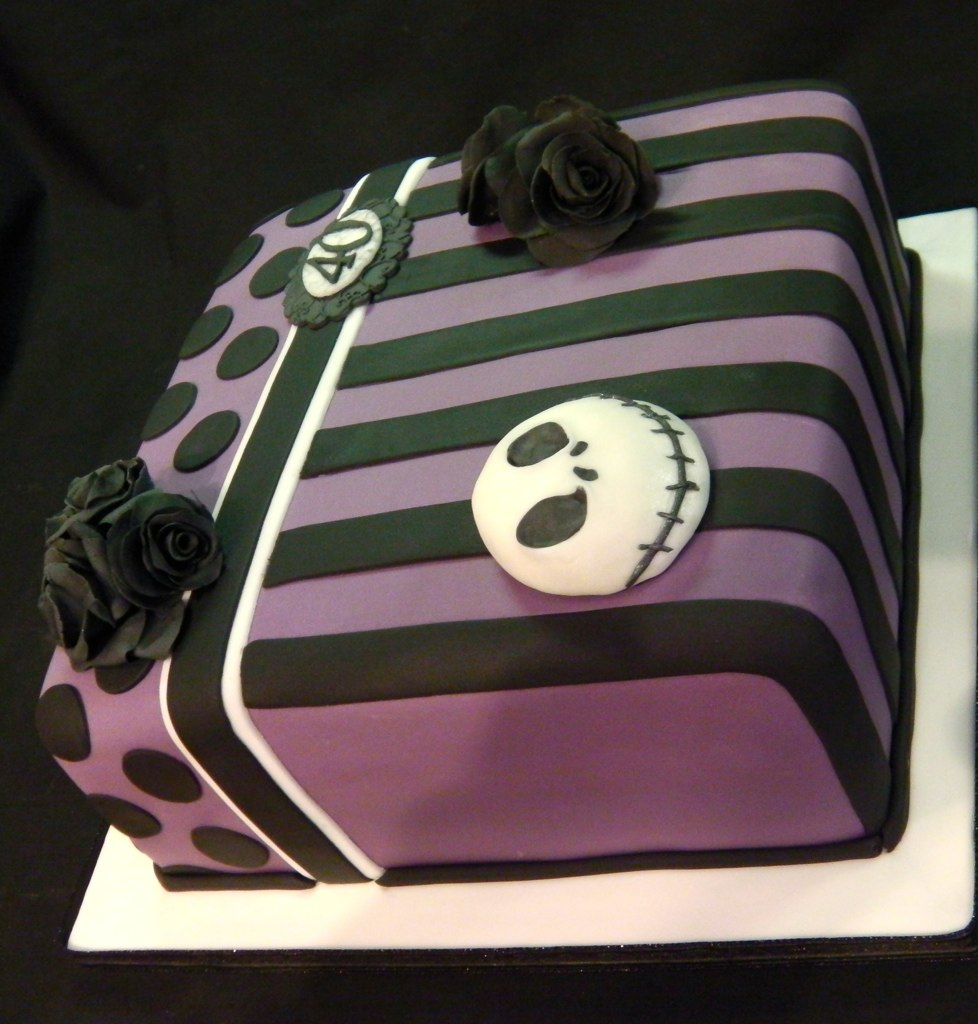 nightmare before christmas 40th birthday celebration cake by mandys homemade cakes