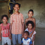 Fish farmer Leonor with her family, Timor-Leste. Kate Bevitt, 2016.
