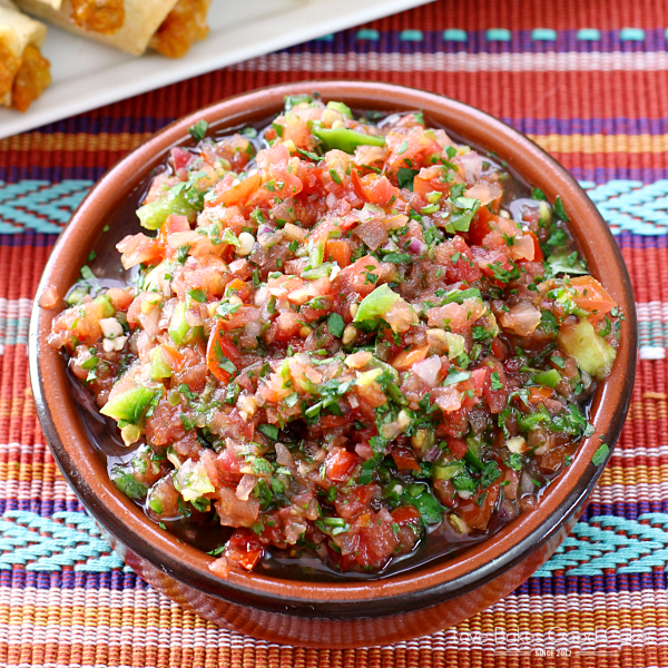 Plain and simple - The BEST & Only Fresh Salsa Recipe You'll EVER Need! AD