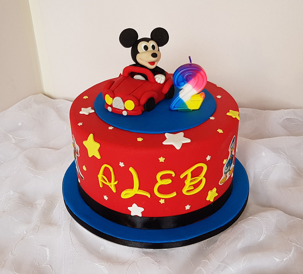 Mickey Mouse With Car Themed 2nd Birthday Cake Willi Probst Bakery
