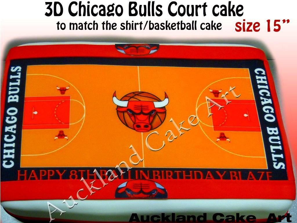 Chicago Bulls Court Cake Chicago Bulls Basketball Court Ca Flickr