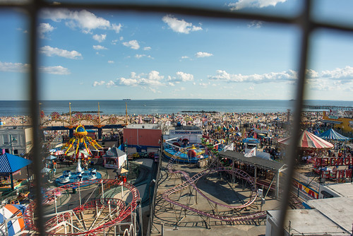 View of Coney Island from Deno's Wonder Wheel | by goingslowly