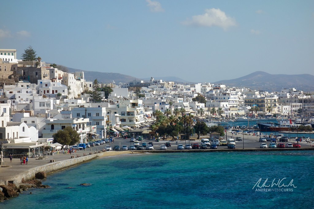 Hopping to Naxos: View from the Portara Monument (the gate to an ancient temple for Apollo)