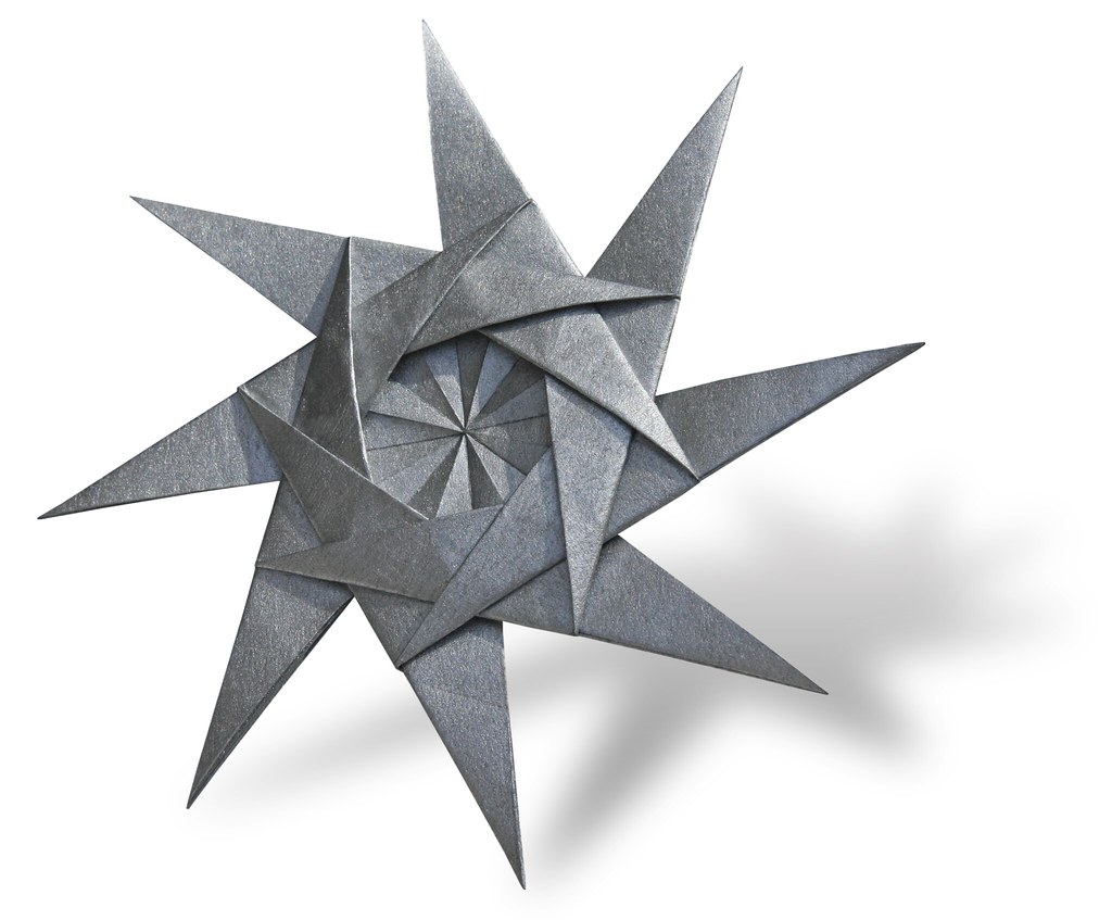 8pointed throwing star evan zodl designed and folded