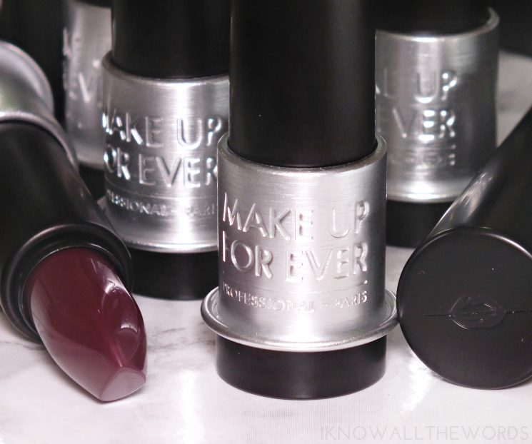 make up for ever artist rouge lipstick swatches (6)