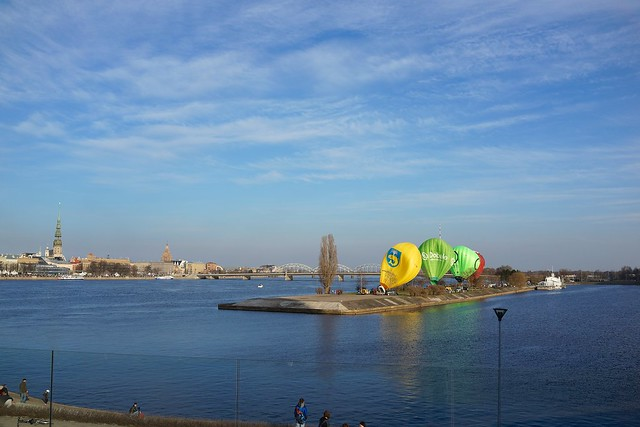 Riga, hot air balloons