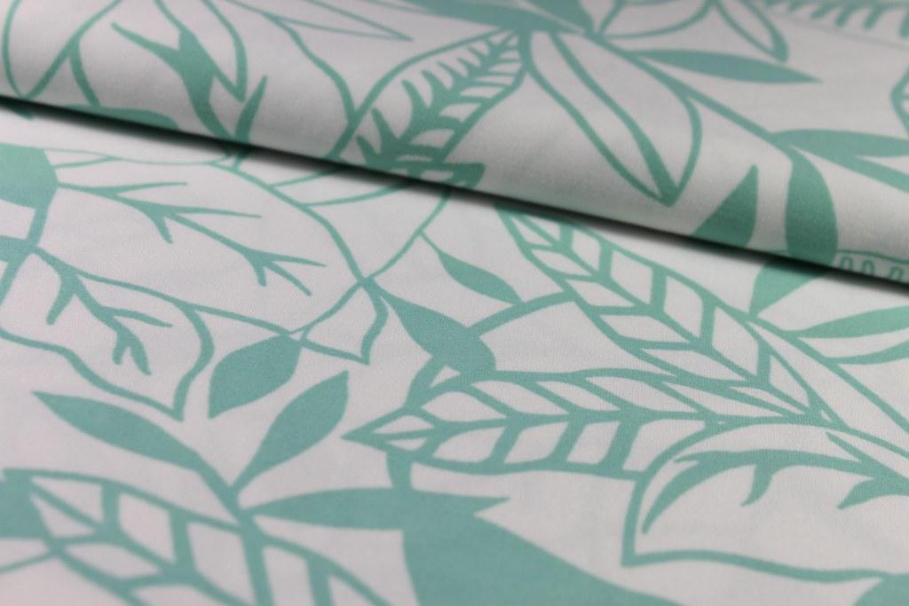 """Jersey """"Pastell-Blumen"""", mintgrün-weiß"""