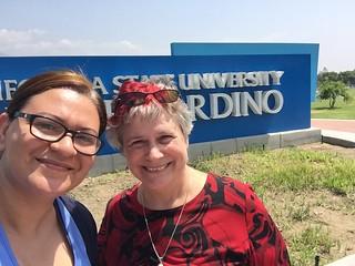Mai Temraz and Katy Dickinson at Cal State San Bernardino August 2016