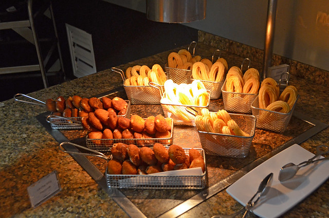 Churros and fried milk, Hotel Buffet,Jardines del Teide, Tenerife