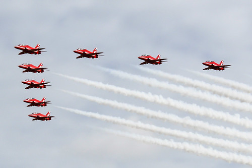 Red Arrows returning to Prestwick from Portrush | by markyharky