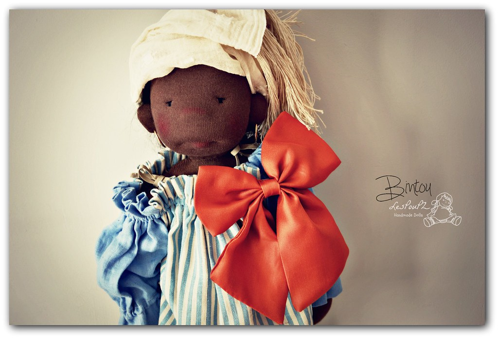 Bintou, a 16-inch Natural Fiber Doll by LesPouPZ