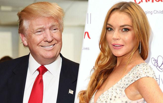 Trump sobre Lindsay Lohan: