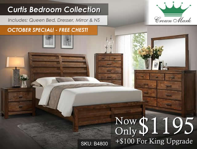 Curtis Bedroom Set B4800
