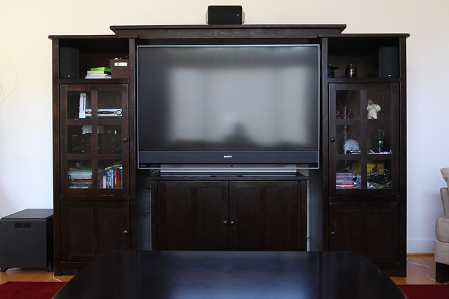 entertainment center with sony bravia sxrd kds 60a3000 60 flickr photo sharing. Black Bedroom Furniture Sets. Home Design Ideas