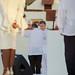 Colombia President Santos Pins a Peace Dove on FARC Leader Jiménez