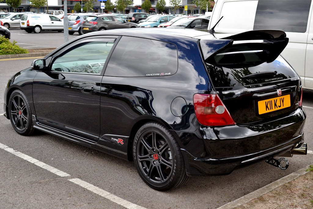 2005 honda civic type r rear view shot of this car seen on flickr. Black Bedroom Furniture Sets. Home Design Ideas
