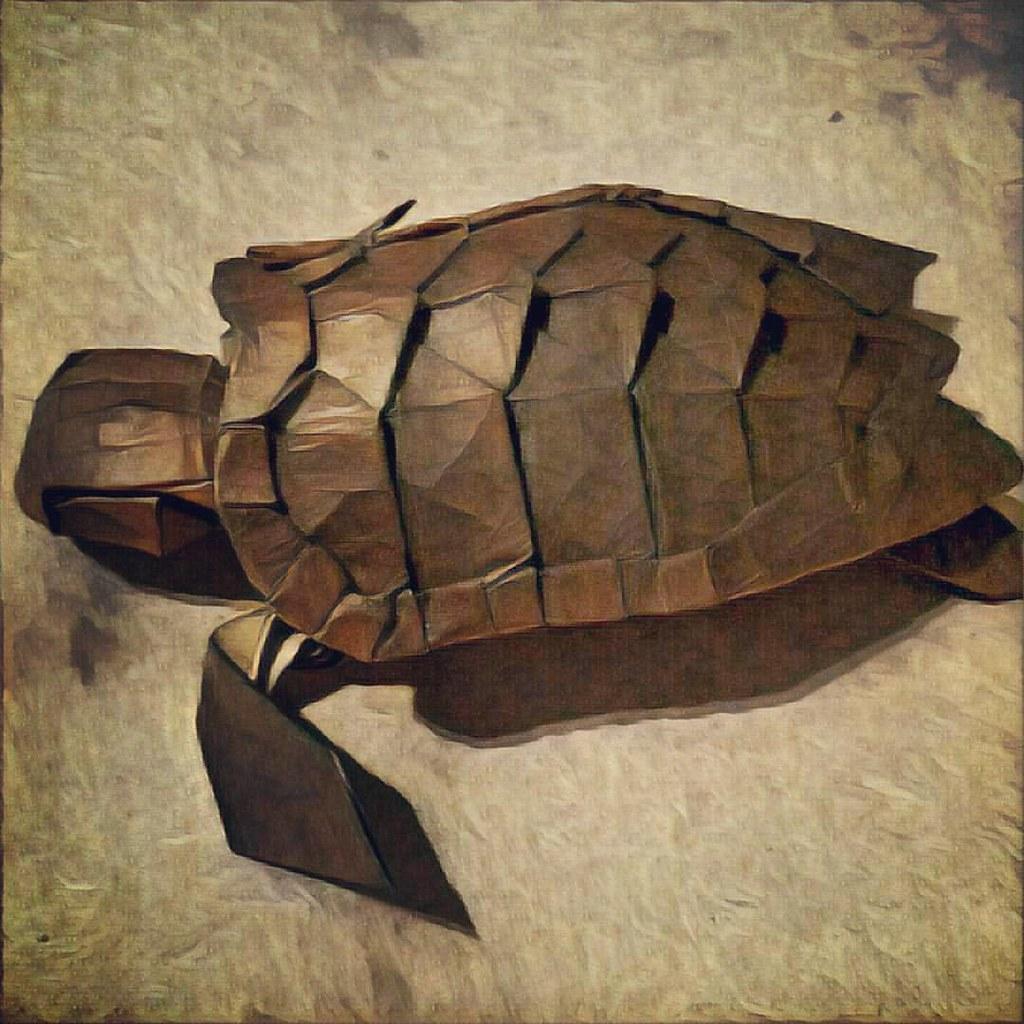 Loggerhead sea turtle by kamiya satoshi folded from 50 cm flickr loggerhead sea turtle by kamiya satoshi by mttygroves jeuxipadfo Image collections