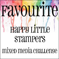 Happy Little Stampers - Mixed Media Favourite Badge