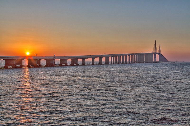 Sunshine Skyway Bridge Sunrise