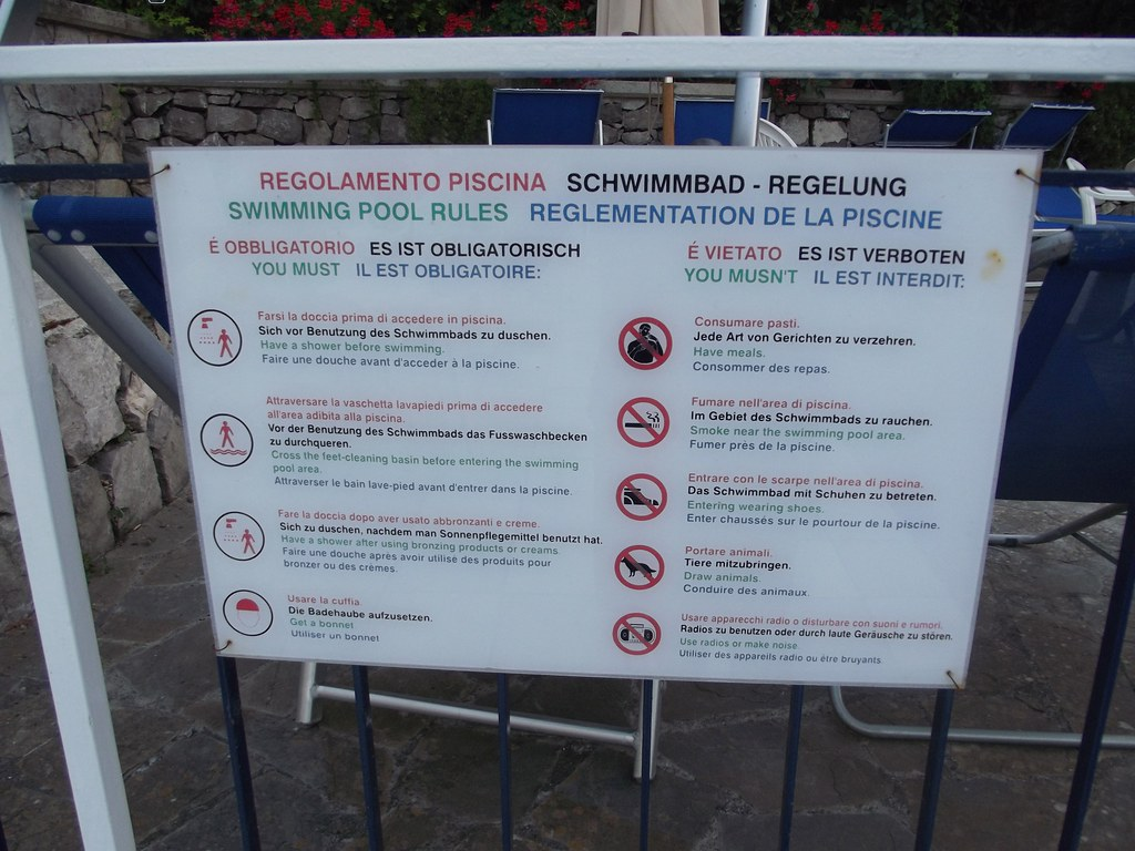 Hotel Metropole Sorrento Sign Swimming Pool Rules Flickr