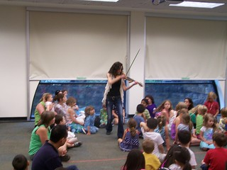 Violinist Caryn Lin performs at the Library. | by bernardstownshiplibrary
