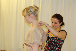 Royal Ballet Principal Sarah Lamb being fitted by dressfitter Becky Hayward. © ROH 2012 | by Royal Opera House Covent Garden