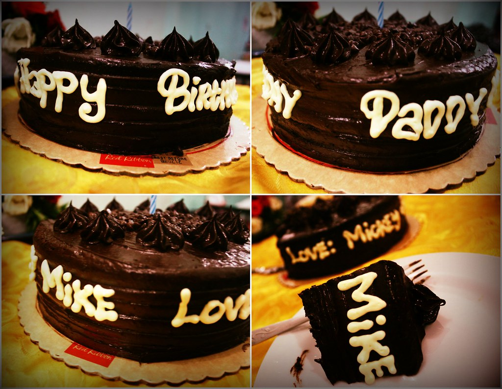 Daddys Cake It Says Happy Birthday Daddy Mike Love Mick Flickr