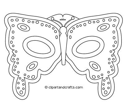 Butterfly mask template printable | printable menu and chart.