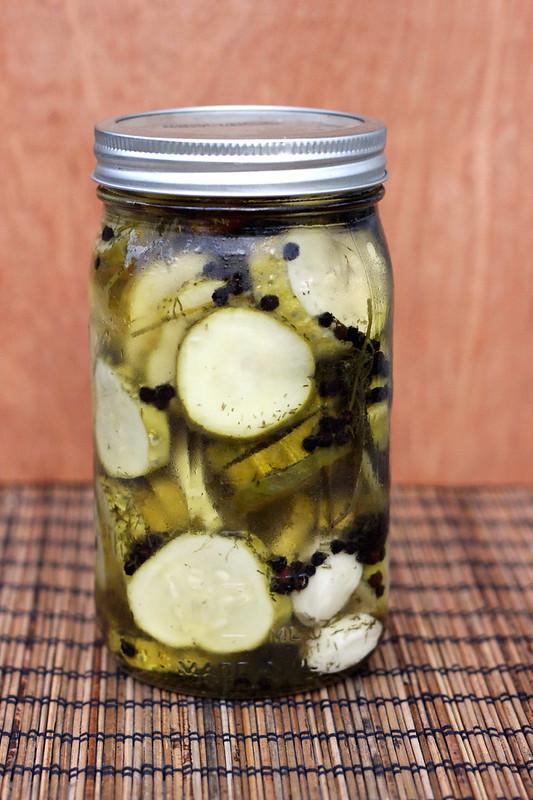 Refrigerator Garlic Dill Pickles - Gluten-free, Vegan + Refined Sugar-free