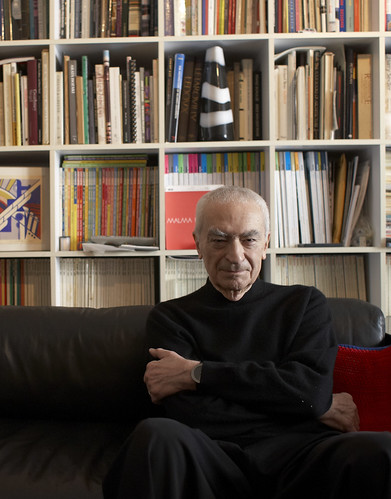 Massimo Vignelli portrait in Eye 83. Portrait by Maria Spann | by Eye magazine