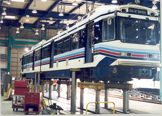 Division 22 Green Line Train in Service Bay | by Metro Transportation Library and Archive