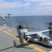 An Osprey lands on the flight deck.