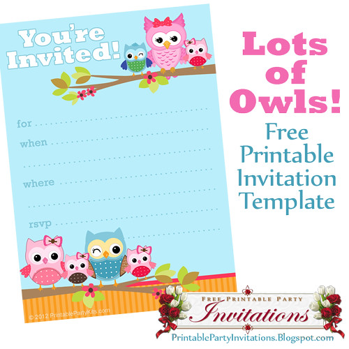 Free Printable Cute Owls Party Invitation | A free printable… | Flickr