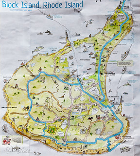 Map Of Block Island Block Island Is Seven Miles Long And