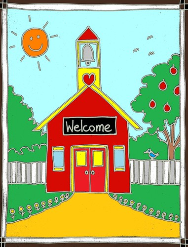 Schoolhouse welcome 2 | by traqair57