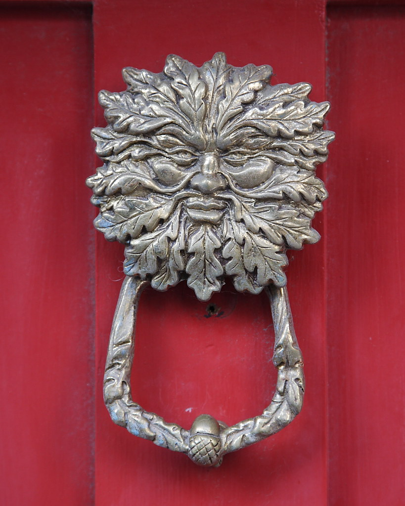 Green man door knocker green man door knocker lewes sussex flickr - Greenman door knocker ...