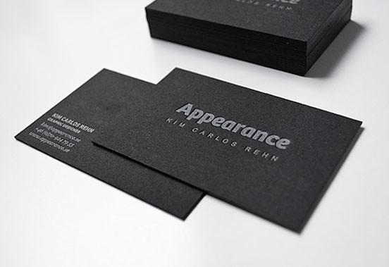 Black Letterpress Business Card Letterpress Business Card Flickr