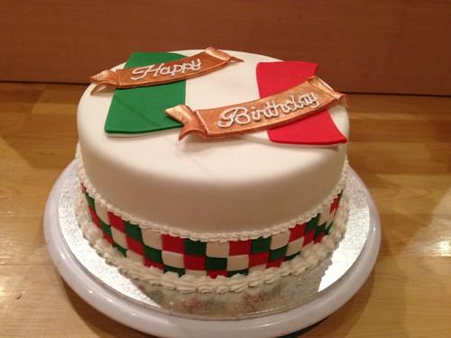 Italian Flag Birthday Cake