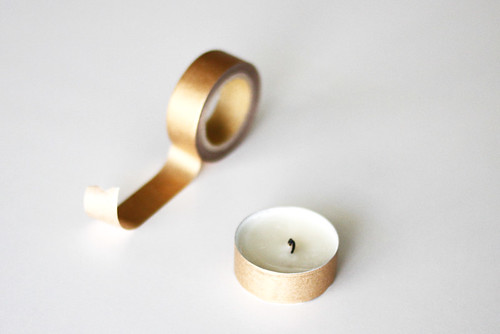 washi tape tea light DIY | by AMM blog