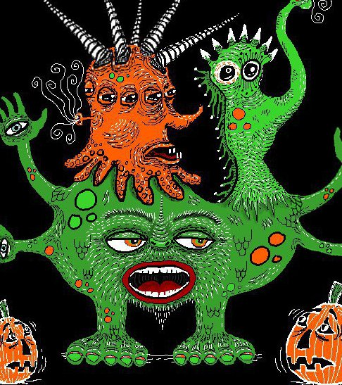 Sept2016monstermash monster mash up fabric amy g for Monster themed fabric
